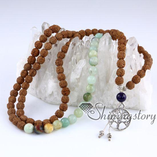 108 Mala Perlenkette buddhistische Gebetskette Meditationsperlen buddhistischer Rosenkranz spiritueller Yoga Schmuck Yogi Heilschmuck