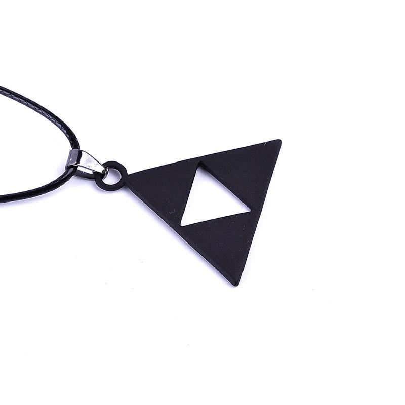 The Legend of Zelda Necklace Triforce Zelda Triangle Logo Necklace Triforce Pendan Alloy Triangle Movie Jewelry