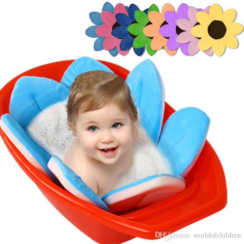 2018 Bloom Bathing Flower Non Slip For Baby Toddler Bath Tub Non Slip Mat For Baby Blooming Sink Bath For Baby Infant Lotus From Worldofchildren - bloom baby