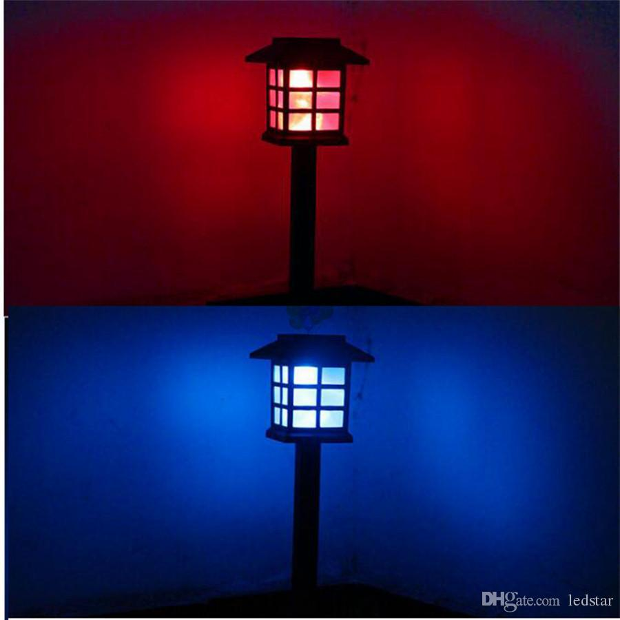 Waterproof Cottage Style LED Solar Garden Light Outdoor Garden Path Lawn Post Lamps Decoration Landscape Lighting