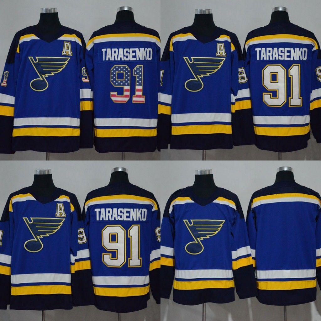 watch 98d4c b47a5 Men Women Youth 91 Vladimir Tarasenko Jersey St. Louis Blues 2017-2018  Season St. Louis Blues Hockey Jerseys Stitched New Jersey