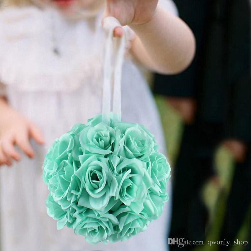 Wholesale- Artificial Silk Flower Rose Balls Wedding Centerpiece Pomander Bouquet for Wedding Party Decoration Decorative Flowers