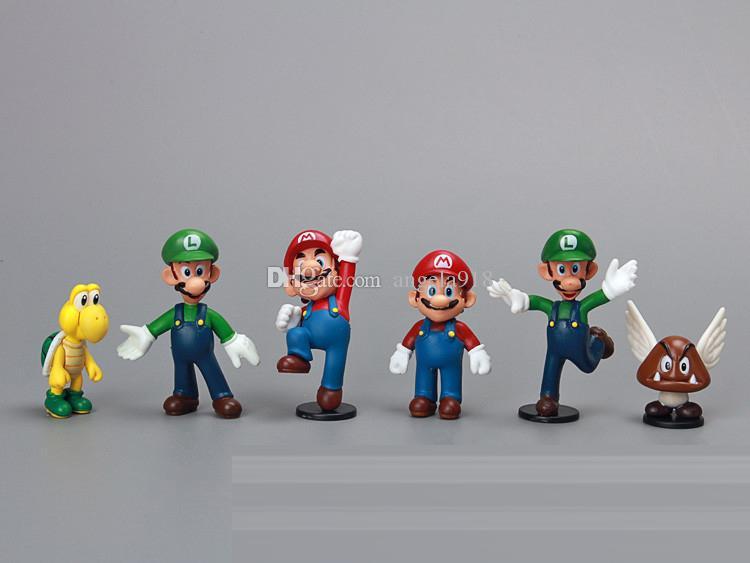 18 Adet / takım Süper Mario Bros Yoshi aksiyon figürleri 3-7 cm Mario Luigi Yoshi Eşek Kong PVC Oyuncaklar Plastik Bebekler İyi kalite Çocuk Hediyeler L148