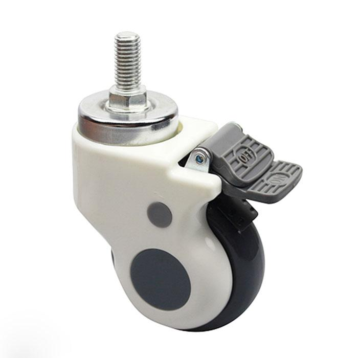 75mm ultra-quiet thread hospital medical carts chair caster swivel caster pulley universal wheel hardware parts