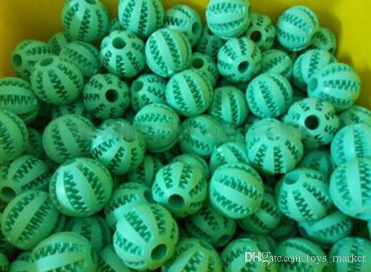 7cm Chien Jouet Balles En Caoutchouc Pour Animaux Jouets Balle À Mâcher Jouets Dent De Nettoyage Balls Nourriture Jouet Balle pour Chiens