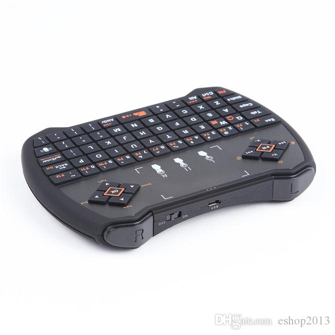 Mini 2.4G Rii R6 Backlight Backlit Wireless Game Keyboard Fly Air Mouse Remote Control with Touchpad for MXQ Andriod TV Box IPTV free dhl