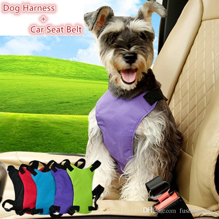 Pet supplies series Dog accessories travel safety Dog harness + Car Nylon Seat Belt 3 sizes
