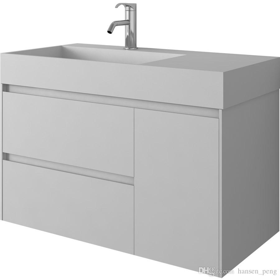 900mm Bathroom Furniture Free Standing Vanity Stone Solid Surface ...