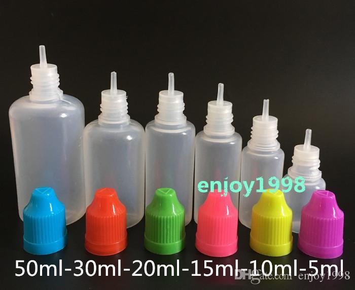 2016 !! Nadelflasche 5ml 10ml 15ml 20ml 30ml 50ml Weiche Tropfflaschen mit kindersicheren Kappen Store Die meisten flüssigen Vape Saft Flaschen Großhandel