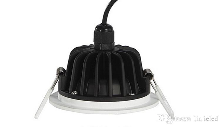 Toptan fiyat Yüksek kaliteli ultra parlaklık tavan lambası aydınlatma AC85-265V led gömme IP65 10W / 15W su geçirmez led downlight