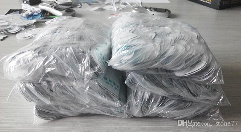 Preço barato Branco Eletrodo Pads Para Dezenas Acupuntura Terapia Digital Máquina Massageador Ferramentas de Cuidados de Saúde 2 peças = 1 par