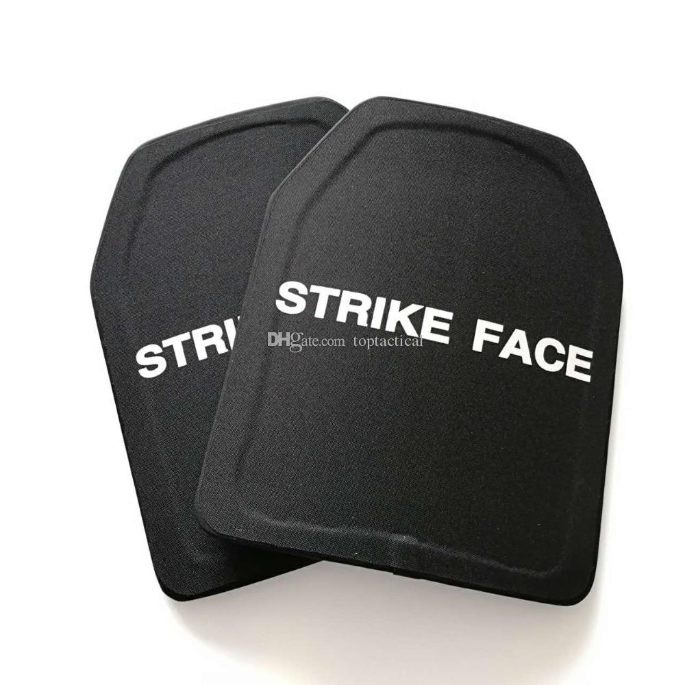 NIJ III Stand Alone Alumina AKA Al2O3 PE Composto Duro Armadura Placa Tactical Vest Inser Cerâmica Placas De Proteção