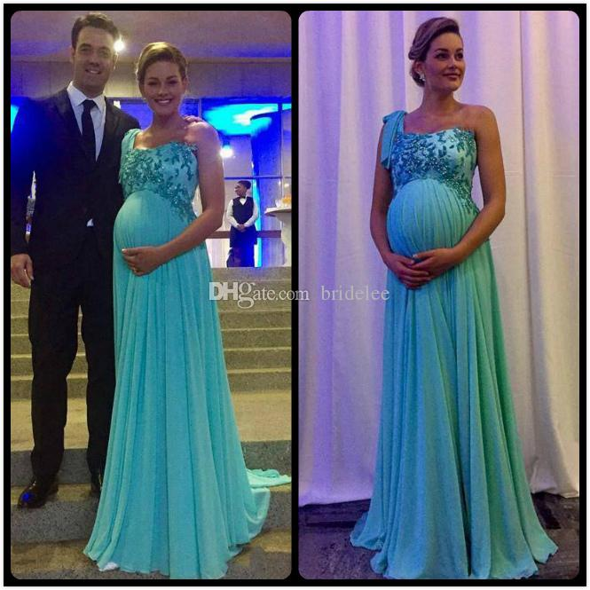 Unique Design One Shoulder Pregnant Chiffon Applique Vestidos New Draped Baby  Shower After Party Evening Dresses Long Formal Gowns Plus Size Supplier  White ...