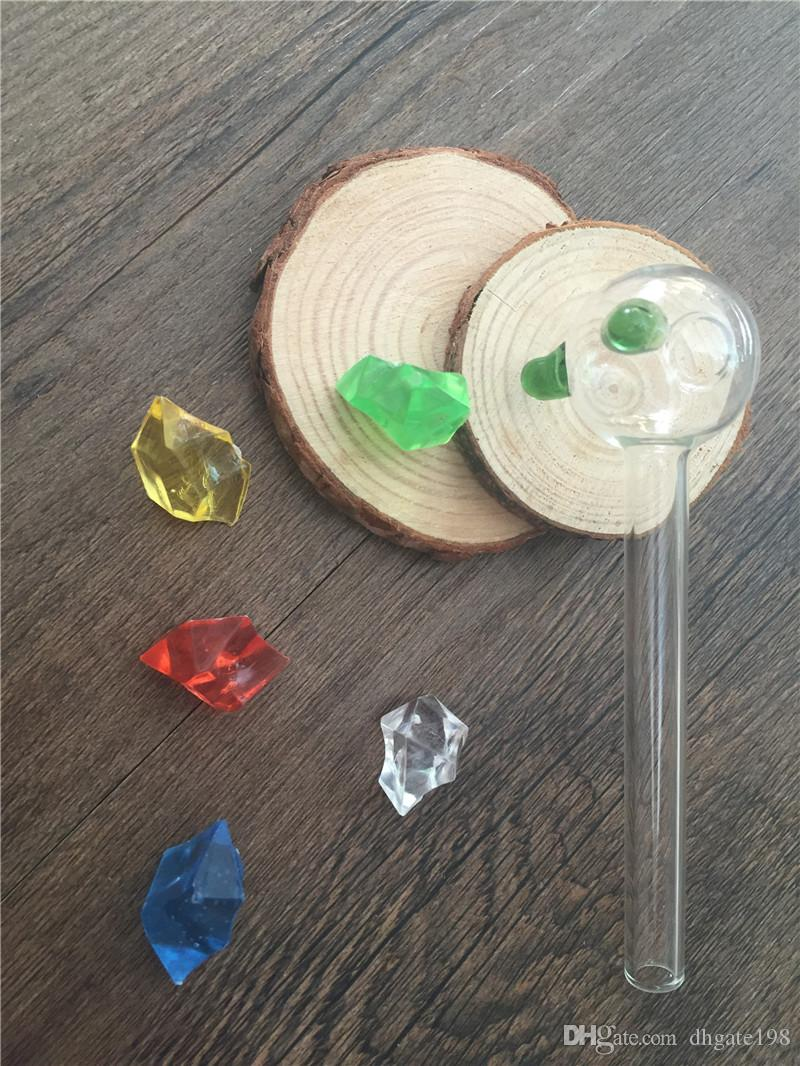 12cm dicke bunte Glasrohr klar Glas Ölbrenner Glasrohr Glasrohr Öl Nagel Glasrohr Wasserrohr