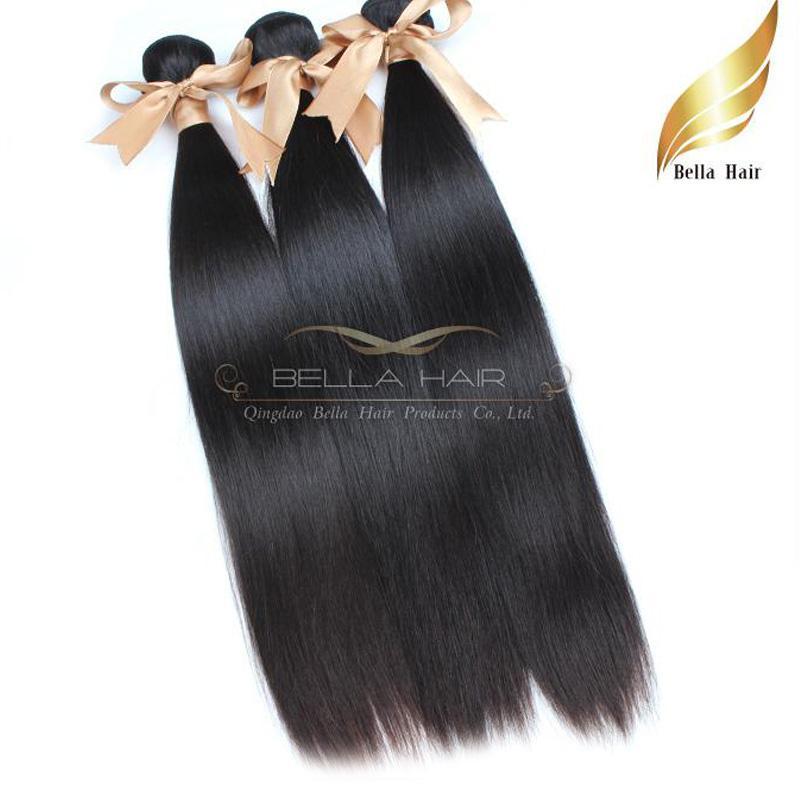 "Mongolian Hair Wefts 10""-28""Human Hair Weaves Straight Hair Extensions Bundles 8A"