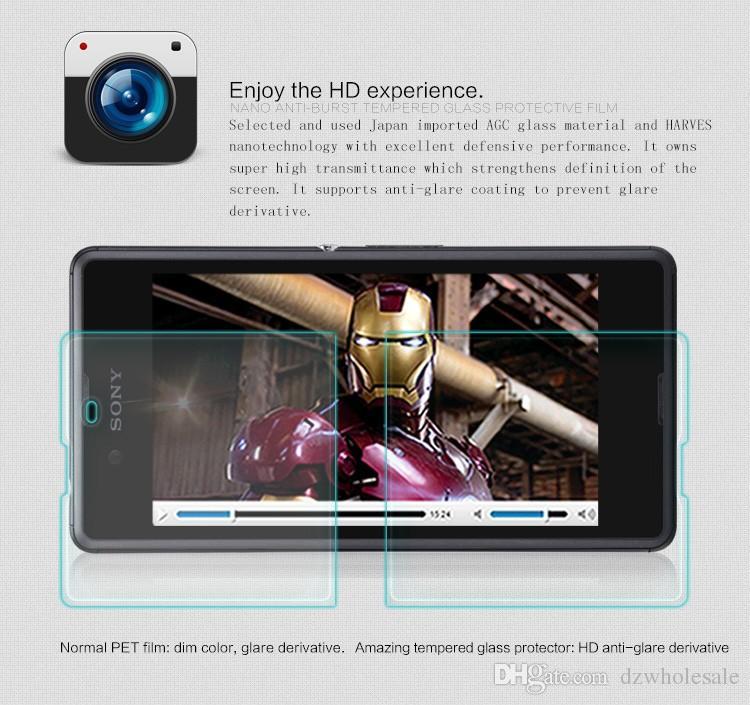 Vidrio templado superior de 9H 0.26mm HD para Sony Xperia Z1 / Z1 Compacto / Z2 / Z3 / Z3 Compacto / Z4 / Z4 Compacto / E3 / E4 Aqua Pantalla a prueba de explosiones /