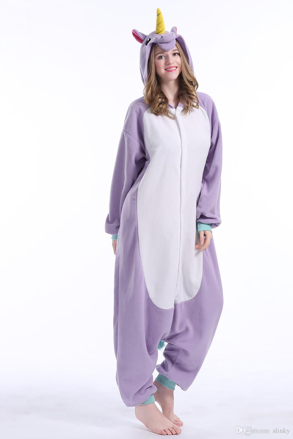 73ba2577c08 Stock Flying horse Unicorn Kigurumi Pajamas Animal Suits Cosplay Halloween  Costume Adult Garment Cartoon Jumpsuits Unisex Animal Sleepwear