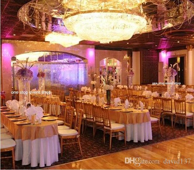 Fancy Wedding Decoration Ideas: Elegant Weddings Hall Crystal Beaded Wedding Aisle Pillar
