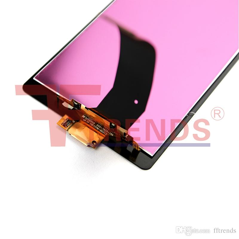 High Quality A+++ for Sony Z Z1 M4 Aqua Glass LCD Display & Touch Screen Digitizer with Frame Assembly Black White Panel 100% Tested