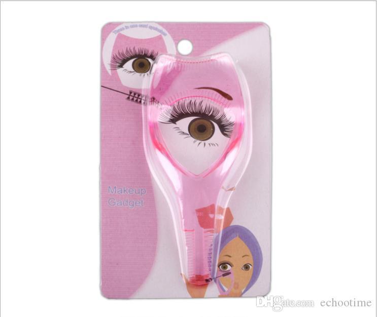 Hot 3 em 1 Maquiagem Eye Lash Escova Rímel Curve Cílios Aplicador Guia Curve Ferramenta Cosméticos Curvex com pacote de varejo