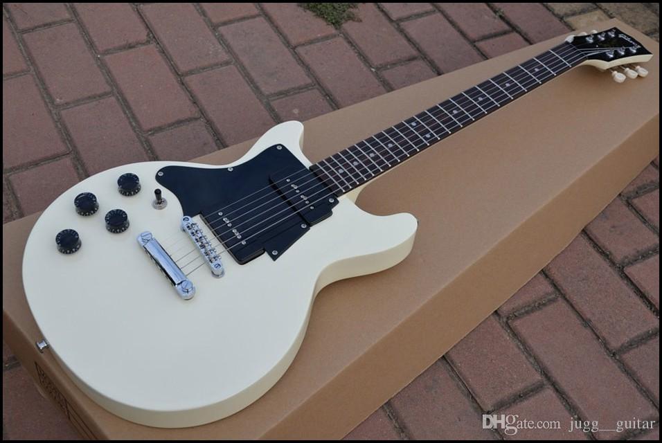 Left Handed Custom Shop 60 s Junior Double Cutaway Cream Electric Guitar  China Musical Instruments Black Pickguard
