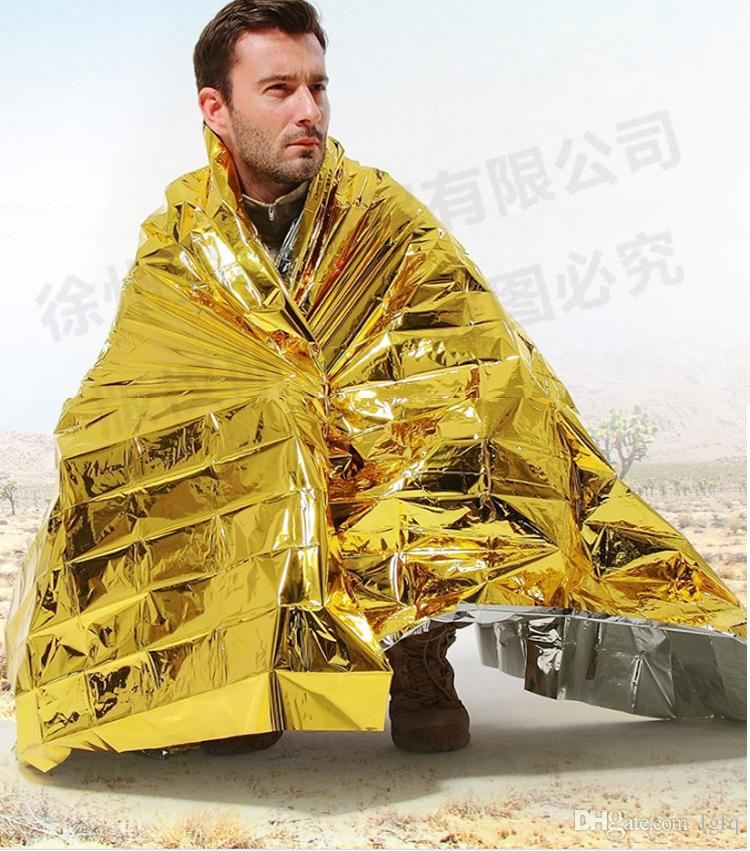 HOT Multi-function Outdoor Camping Waterproof Emergency Survival Insulation Foil Thermal First Aid Rescue Blanket Disaster Response Tool
