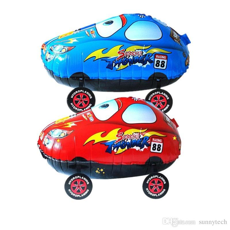 100 pz 55 * 25 cm cartone animato rosso blu auto ambulante palloncino gonfiabile foglio di elio aerostato aerostato natale partito classico giocattoli ZA1243