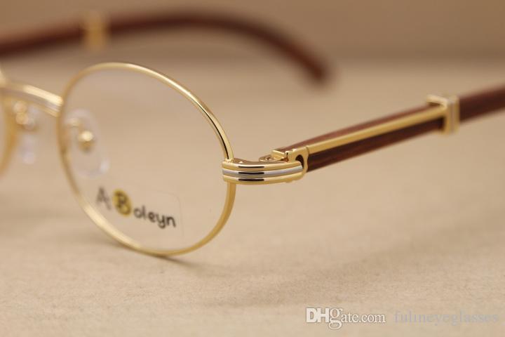 Marco de madera con marco de gafas para mujer o marco de gafas de madera para hombres Tamaño del marco: 53-22-135mm