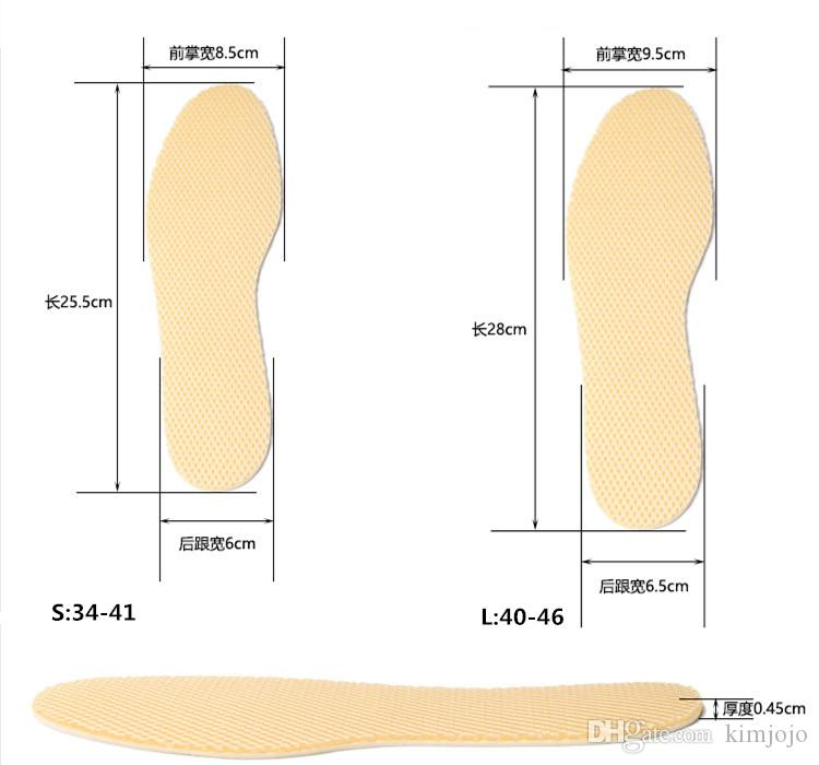 Deodorant Insoles Bamboo Charcoal Foot Pad Can Cut Off Insole Movement Sweat Absorbent Unisex Basketball Damping Shoes Pads