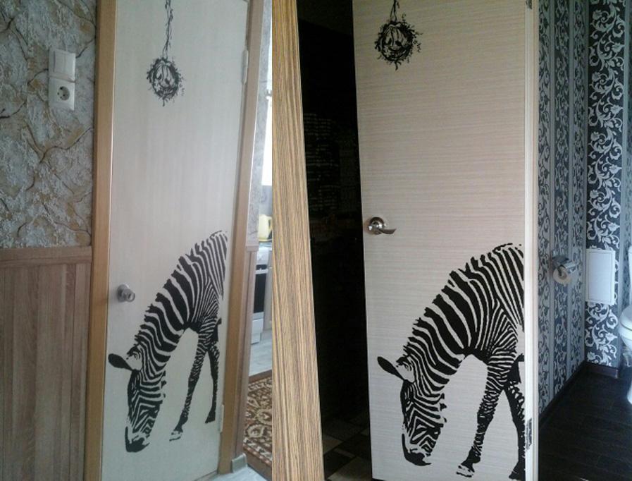 Schwarz zebra diy wandaufkleber wall poster wall stick abstrakte kunst dekor tier aufkleber dekoration größe 60 * 90 cm