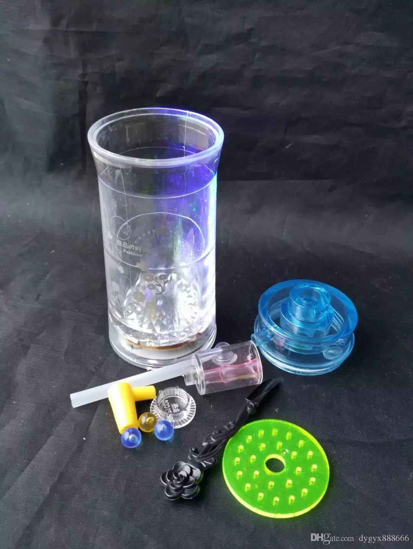아크릴 6 플래시 냄비 - 유리 물 담배 파이프 유리 징 - 석유 굴착 유리 봉합 유리 물 담뱃대 담배 파이프 - 증기 - 기화기