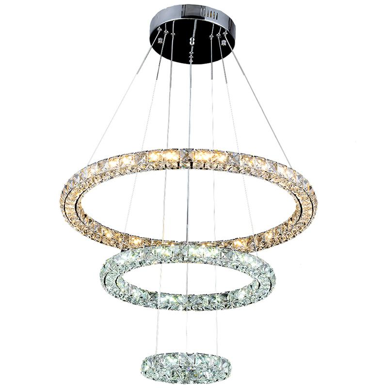 Vallkin Round Ring Indoor Lighting Crystal Chandeliers Led Pendant Lights Ceiling L&s Fixtures For Dining Room With 3ring Ce Fcc Rohs Silver Chandelier ...  sc 1 st  DHgate.com & Vallkin Round Ring Indoor Lighting Crystal Chandeliers Led Pendant ...