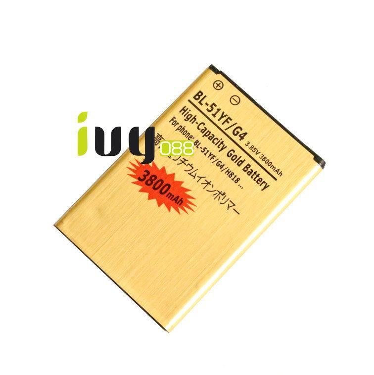 2 adet 3800 mAh BL-51YF Altın Yedek Pil + Şarj Için LG G4 H818 H818N VS999 F500 F500S F500K F500L H815 H810 H819