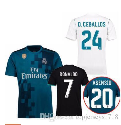 brand new 62453 72a9c 2017 Real Madrid away 3rd jersey 2018 Ronaldo Soccer jersey MODRIC LUCAS V  BALE KROOS ISCO BENZEMA football shirts Camisa new jersey