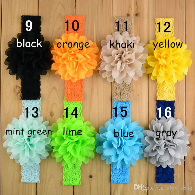 16 ألوان جديدة الأطفال الرباط القوس التعادل bandanas فتاة الطفل الرباط مرونة رباطات الشعر اكسسوارات شحن مجاني