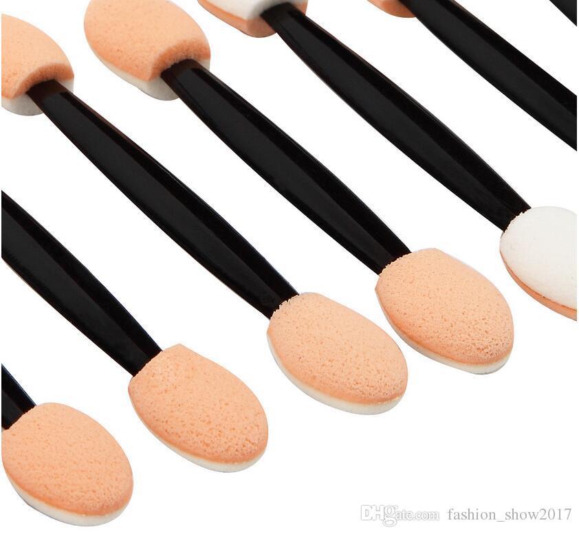 New Applicateur fard à paupières éponge Double terminé Make Up Fournitures Portable Lipliner Pinceaux Miroir Pinceau Poudre