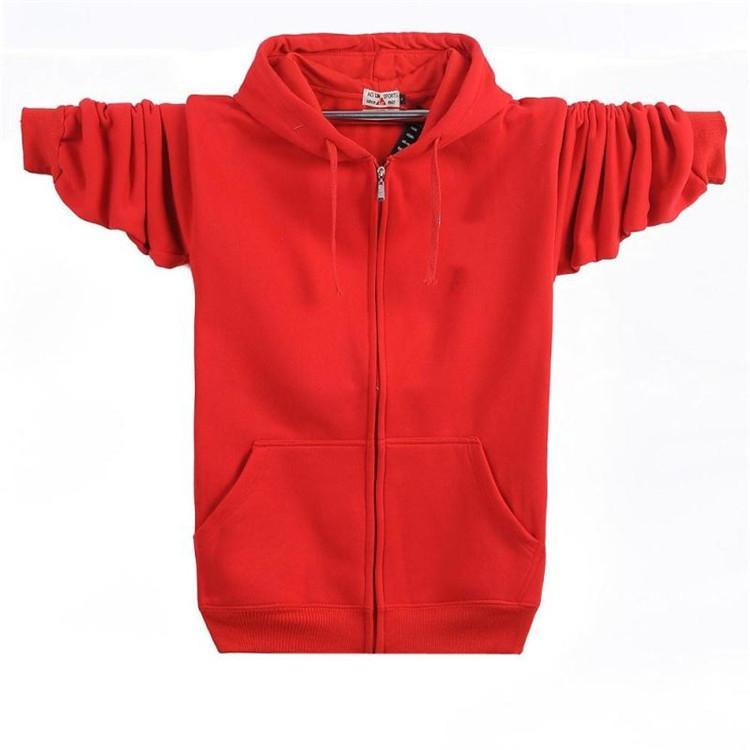 Frühling neue Plus-Größe Männer Hoodies Sweatshirts Baumwolle Reißverschluss Strickjacke locker sitzende Casual Sport Hoodies