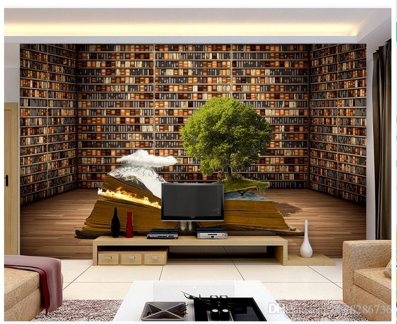 living room wall murals. 3d Photo Wallpaper Custom Wall Murals Mural Creative Bookcase Living  Room Tv Sofa Background Paper Home Decor Freewallpapers Full Hd