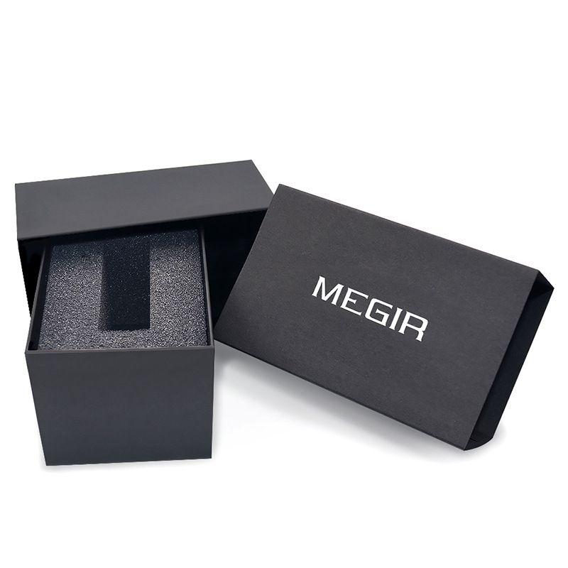 NOUVEAU 2011 MEGIR luxe Sport Montre Top Marque Hommes 30 M Étanche Montres Lumineux Calendrier multi-fonction Quartz Montre-Bracelet