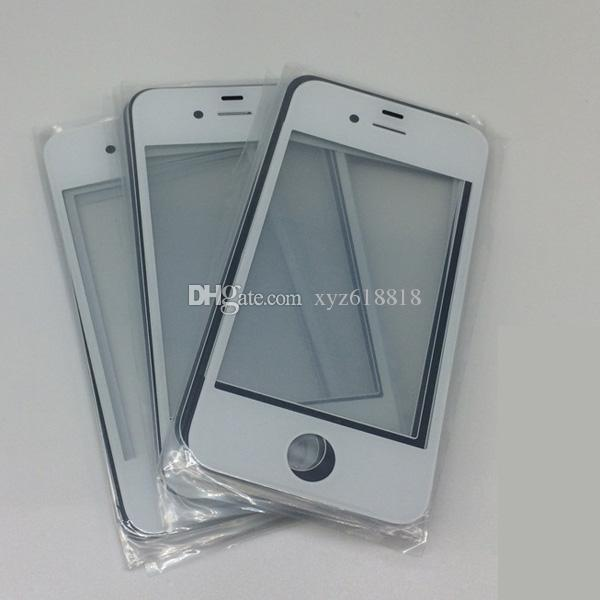 DHL High Quality New LCD Touch Screen Front Glass Lens For iPhone 4 4G 4S 5 5G 5S 5C Outer Glass lens