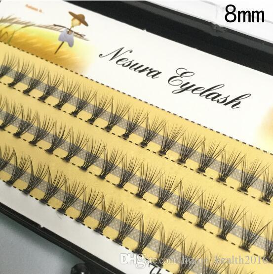 2016 MEW Fashion Professional Makeup Individual Cluster Eye Lashes Grafting Fake False Eyelashes 477N