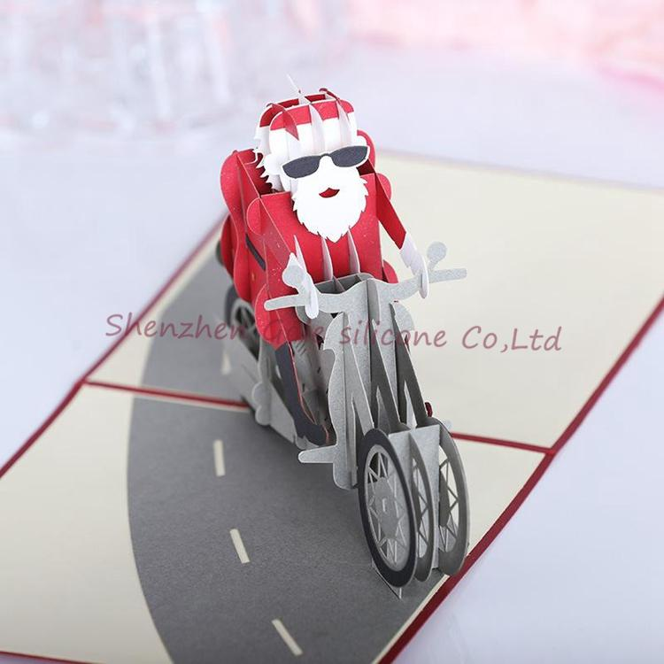 Wholesale 3D Solid Greeting Cards Xmas Cards Moose Carriage ...