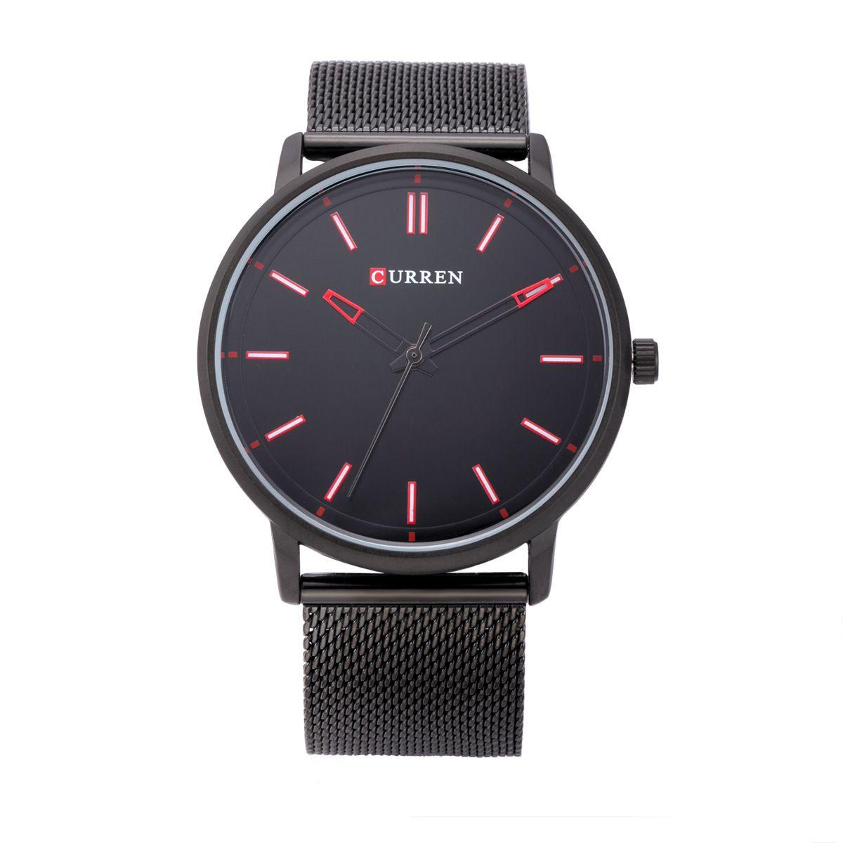 Fashion Steel Belt Quartz Watch Elegant Dress Simple Leather Strap Ultra Slim Male Wrist Watch Womens Mesh Belt Watch Hours Quartz Watches Men's Watches