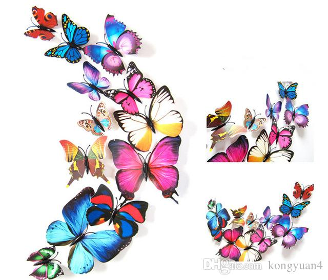 / 3D Art Butterfly Decal Wall Sticker Home Decor Decorazione della stanza