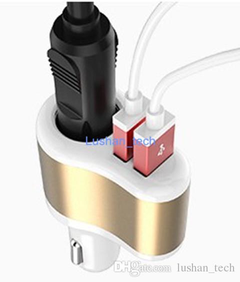 Caricabatteria da auto Caricabatterie Dual USB con caricatore integrato Ingresso DC12-24V / Uscita DC 5V 3.1A