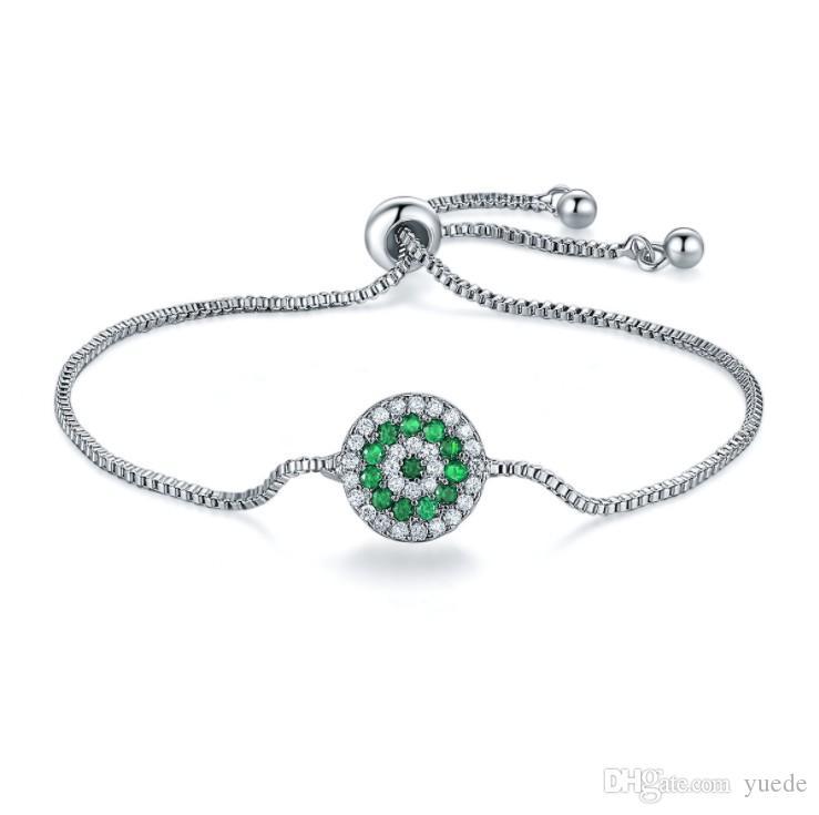 72822f065362 Rebajas 4Color Joyería de moda 925 Pulsera con cristales de plata y  cristales de Swarovski para mujer Joyería de boda Pandora