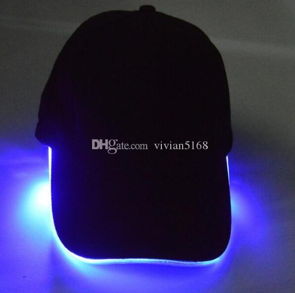 LED Light Hat LED Flash Chapeaux Casquettes de baseball Light LED Chapeaux Fête Chapeaux Garçons Grils Cap Mode Chapeau Lumineux Ball Caps Hip-hop Chapeau