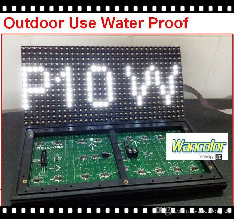 무료 배송 공장 가격 p10 야외 LED 스크롤 디스플레이 화이트 컬러 p10 디스플레이 모듈 + 전원 공급 장치 + 컨트롤러