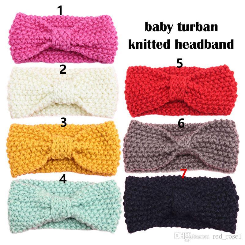 Bebé niño crochet hecha punto headwrap diadema winter warmer turban banda de pelo para niños accesorios para niñas accesorios para el cabello Envío de gota
