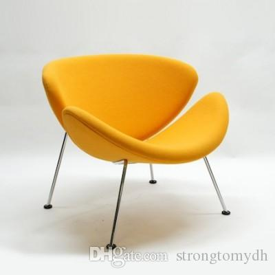 Acheter Vente En Gros Pierre Paulin Chaise Orange Canape Petit Tissu Mobilier Classique Moderne De Bras Salon Chambre